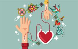 Donare il sangue con tatuaggi