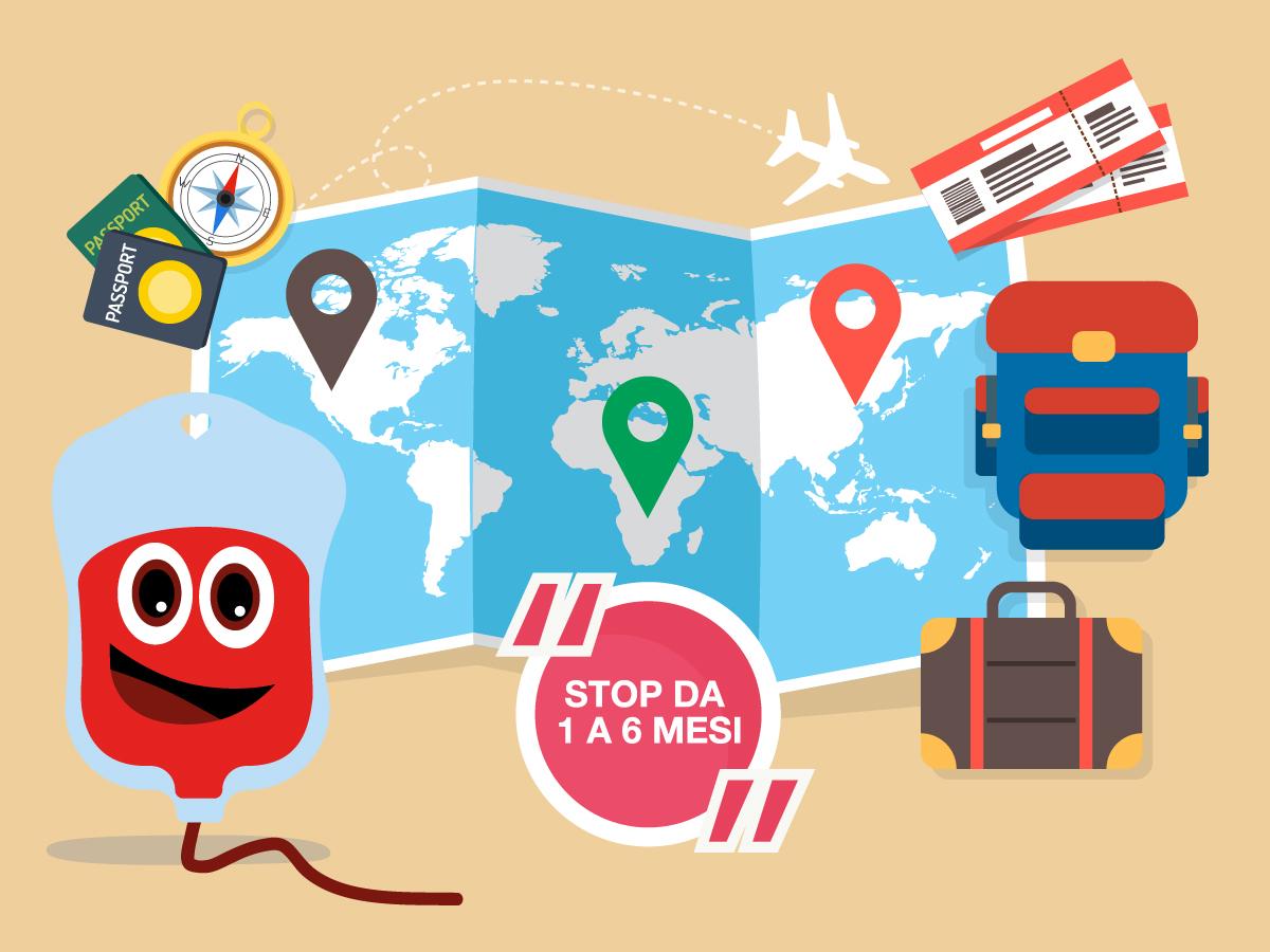 La donazione di sangue e i soggiorni all'estero